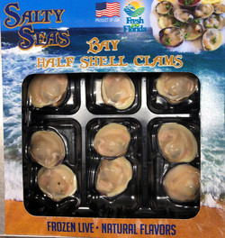Salty Seas Frozen Half Shell Littleneck Clams