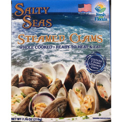 Salty Seas Perfect Dozen Little Neck Clams, 2 Per Box