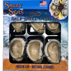 Retail Ready Frozen Half Shell Oysters